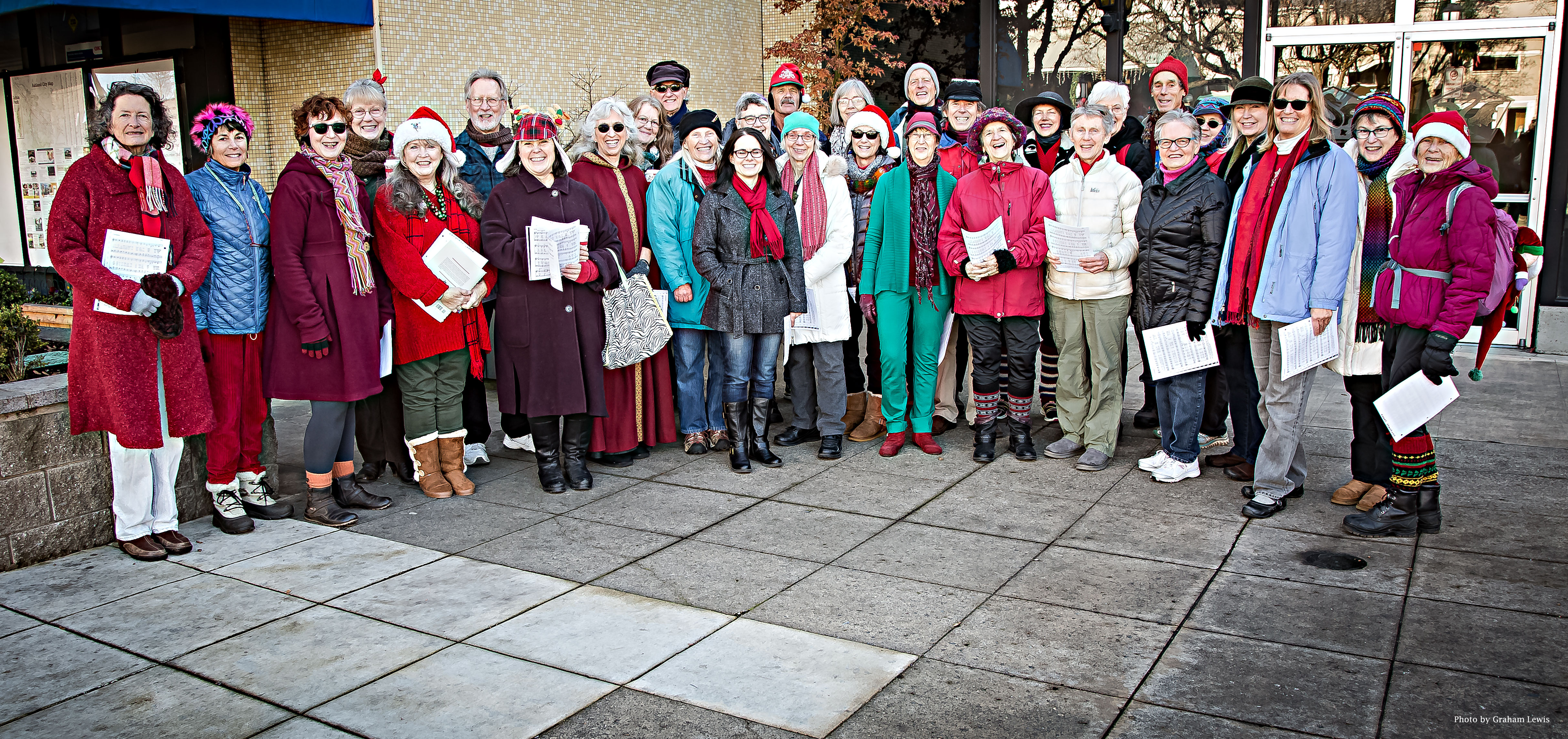 Caroling in Downtown Ashland, Dec. 16, 2017