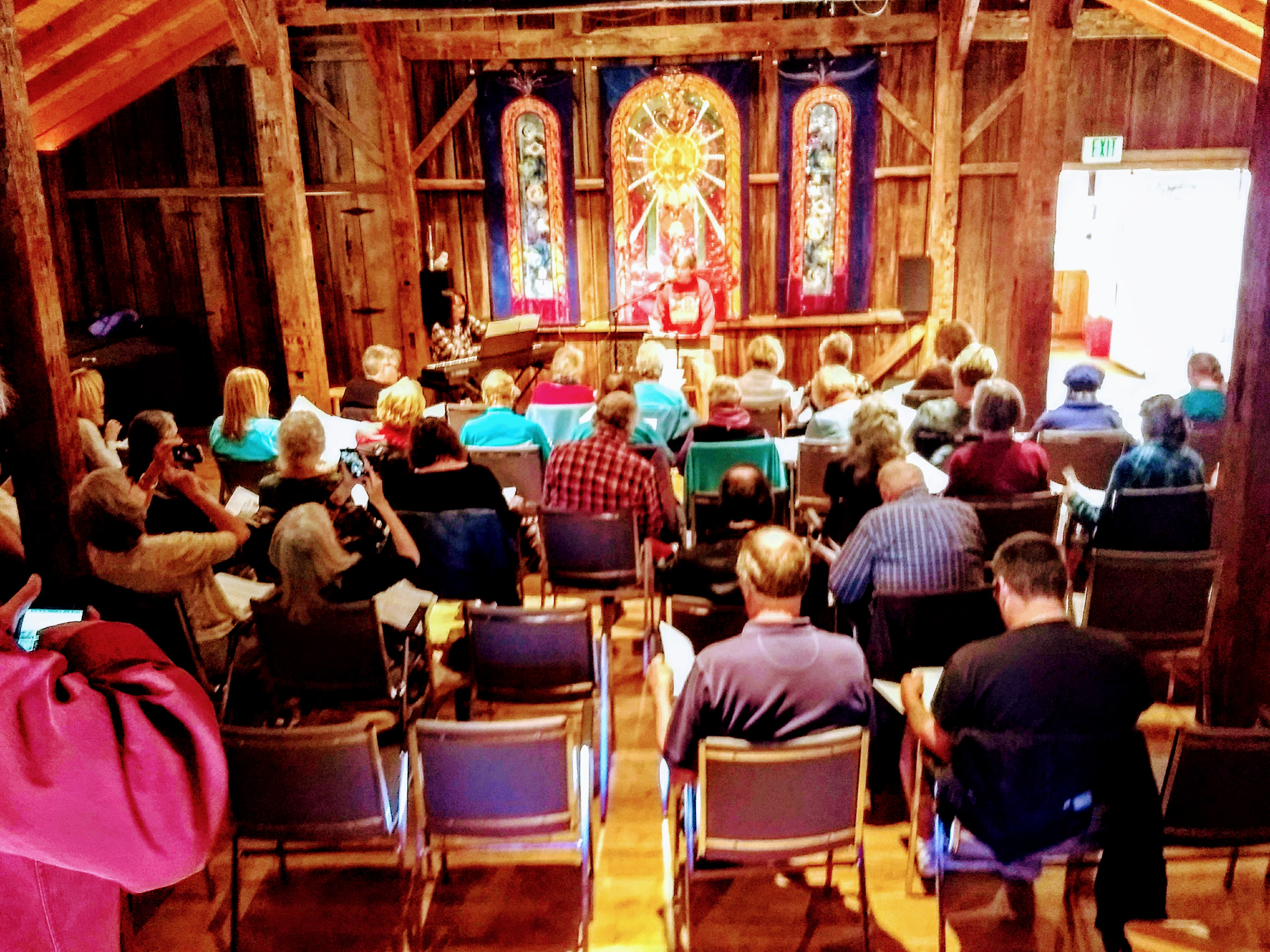 2018 Choir Retreat, Old Siskiyou Barn