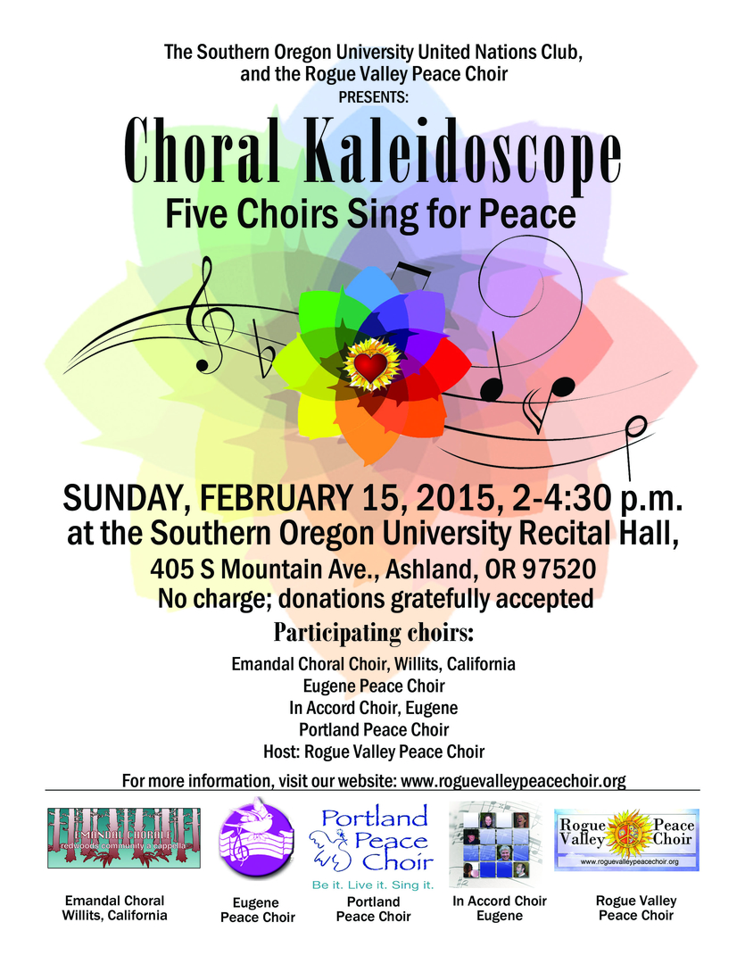 Regional Peace Choir Concert 2015